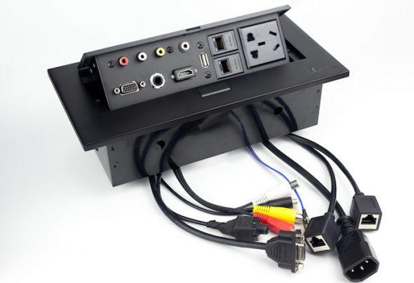 Hộp điện âm bàn họp hợp kim sơn tĩnh điện cao cấp LG tech