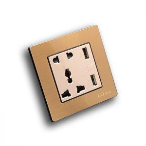 Ổ cắm điện đơn âm sàn có cổng USB