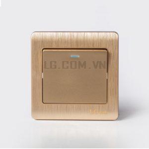 Công tắc điện mạ vàng đơn mặt vuông Gold Acrylic LG tech