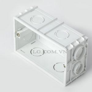 Đế âm tường đôi cho ổ điện, công tắc chất lượng cao LG tech