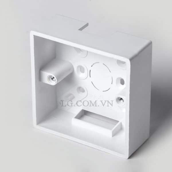 Đế nổi vuông cho ổ điện, công tắc chất lượng cao LG tech