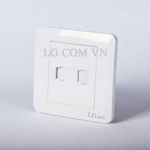Ổ cắm âm tường cổng mạng LAN và điện thoại TEL