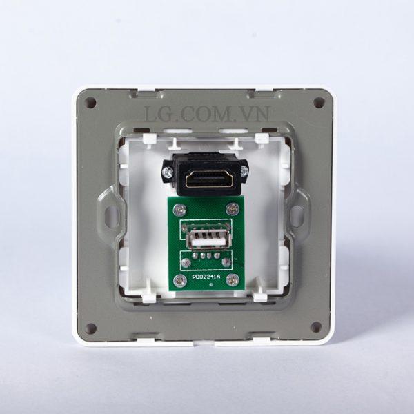 Wallplate HDMI, USB - ổ cắm âm tường cổng chờ HDMI và USB